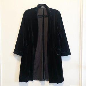 Black Velvet Longline blazer from Forever21 NWOT